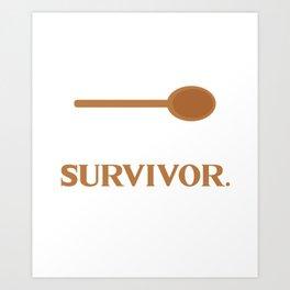 Spoon Theory - I'm A Survivor - Lupus Art Print