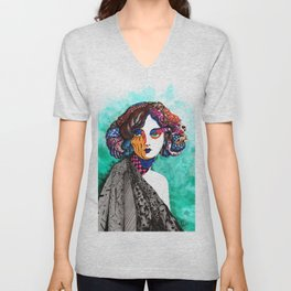 """""""When the muse come to visit"""" Unisex V-Neck"""