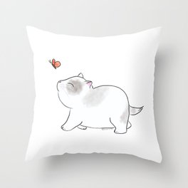Wait for me, Butterfly. Throw Pillow