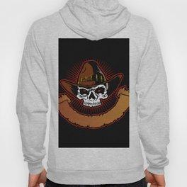 illustration of Cowboy skull Hoody
