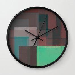 Abstract Geometry No. 15 Wall Clock
