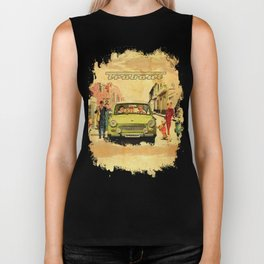 Retro Trabant 607 advertisement Biker Tank