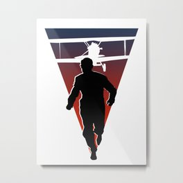 North By Northwest: Alfred Hitchcock + Cary Grant + plane = film classic Metal Print