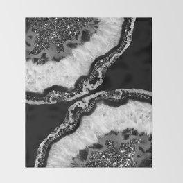 Yin Yang Agate Glitter Glam #4 #gem #decor #art #society6 Throw Blanket