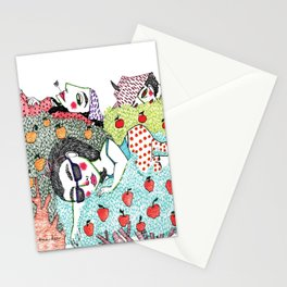 Ladies in Apple Trees Stationery Cards