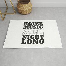 House Music All Night Long, the perfect dj house music dj gift. Rug