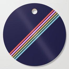 Bathala - Minimal Classic 80s Style Graphic Design Stripes Cutting Board