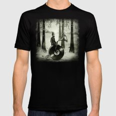 Music Man in the Forest, by Eric Fan and Viviana González Mens Fitted Tee X-LARGE Black