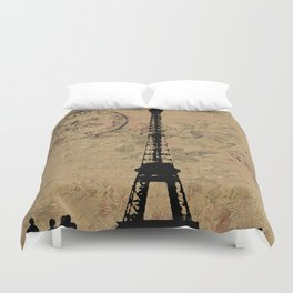 EIFFEL TOWER FRENCH COLLAGE Duvet Cover