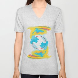 Spring Lion Balanced Unisex V-Neck