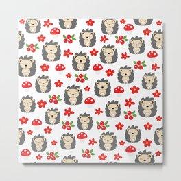 Cute hedgehogs Metal Print