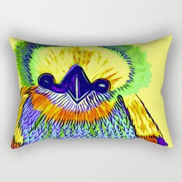 Baby Chick Learns To Fingerpaint Rectangular Pillow