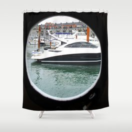 Port Hole View of Boston Shower Curtain