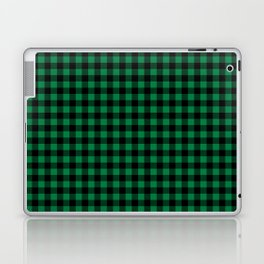 Winter green and black plaid christmas gifts minimal pattern plaids checked Laptop & iPad Skin