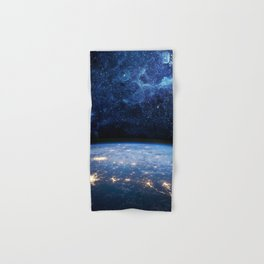 Earth and Galaxy Hand & Bath Towel
