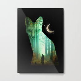 Guardian Fox Metal Print