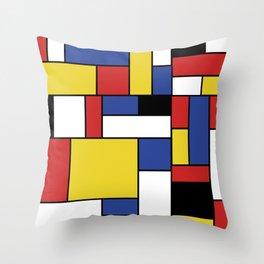 Mondrian Geometric Art Throw Pillow