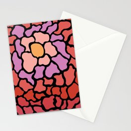 abstract shades of red and pink Stationery Cards