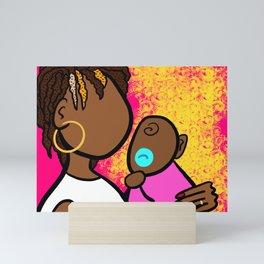 Mom and Baby Love Mini Art Print