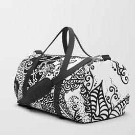 Unity of Halves - Life Tree - Rebirth - Black White Duffle Bag