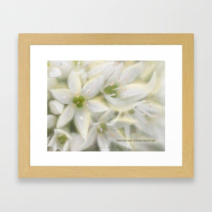 The Magic of Flowers Framed Art Print