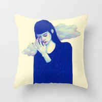 clouds Throw Pillows featuring Clouds by Natalie Foss