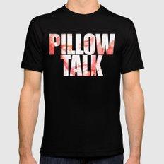Pillow Talk Black MEDIUM Mens Fitted Tee