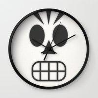grim fandango Wall Clocks featuring Manny Calavera - Grim Fandango by Jose Zelig