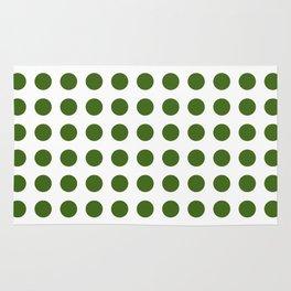 Simply Polka Dots in Jungle Green Rug