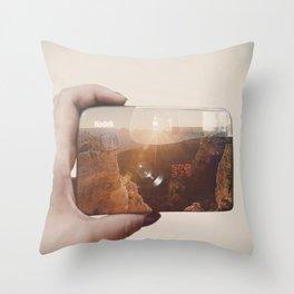 Infinity Click Throw Pillow