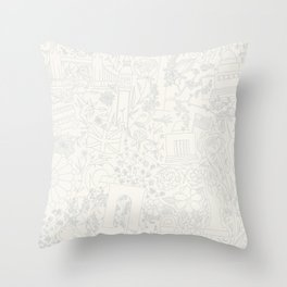 DC NYC London - Cream Throw Pillow