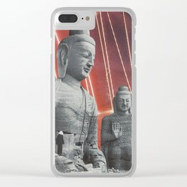 Laser Buddhas Clear iPhone Case