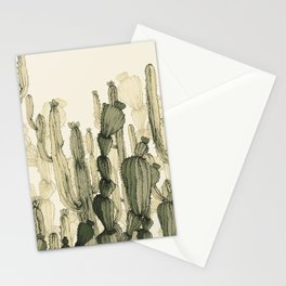 drawing cactus Stationery Cards