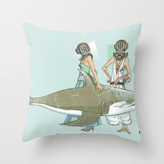 In Oceanic Fashion Throw Pillow