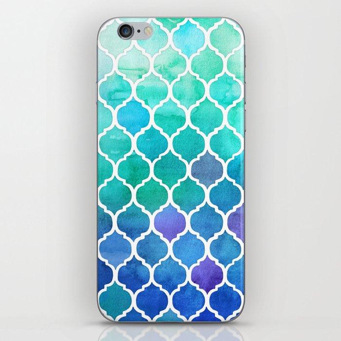 Emerald & Blue Marrakech Meander iPhone Skin