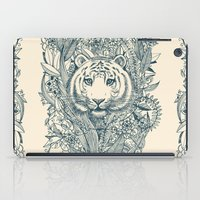 leaves iPad Cases featuring Tiger Tangle by micklyn