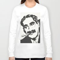 marx Long Sleeve T-shirts featuring Mr. Marx Acrylic Pop Art by Kathryn Price