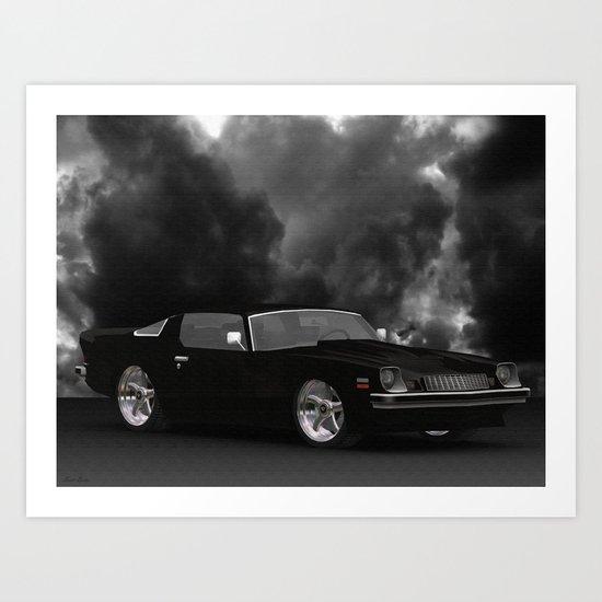77  #Chevrolet #Camaro canvas. Art Print
