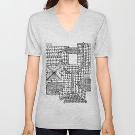 Taiwanese roofscapes 01 Unisex V-Neck