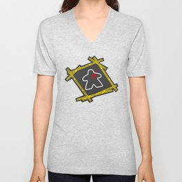 Dead Meeple Crime Scene Unisex V-Neck
