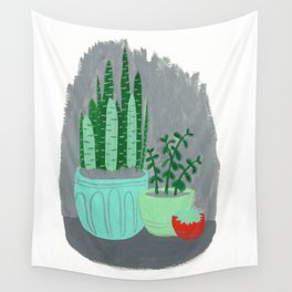 House Plants jade plant cactus snake plant Wall Tapestry