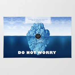 1 Peter 5:7 Worry Rug