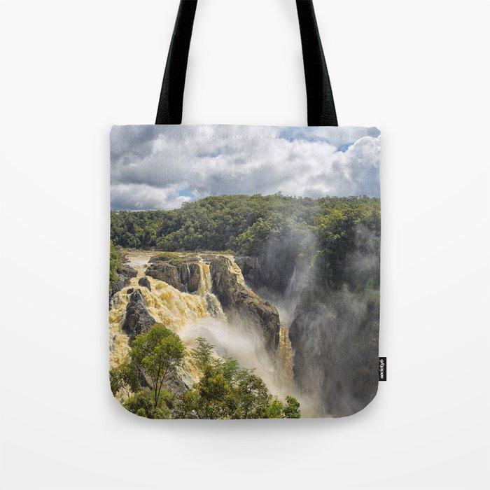 Beautiful wild waterfall Tote Bag