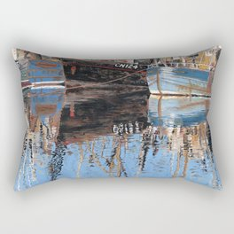 Reflections of Porthleven Harbour  Rectangular Pillow