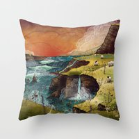 ruben ireland Throw Pillows featuring Ireland by Taylor Rose