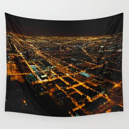 Miles and Miles of Lights (Chicago Architecture Collection) Wall Tapestry