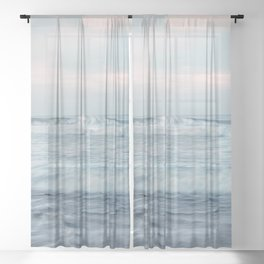 BODY OF WATER LONG EXPOSURE PHOTOGRAPHY Sheer Curtain
