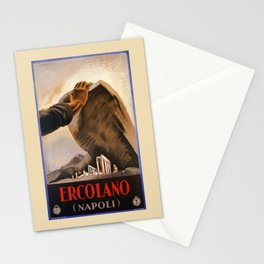 Ercolano Naples Italian art deco ad Stationery Cards