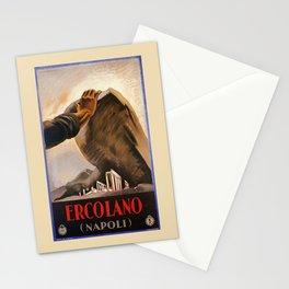 Ercolano Naples Italian art deco ad Stationery Cards