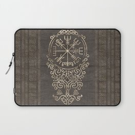 Vegvisir and Tree of life  - Yggdrasil Laptop Sleeve